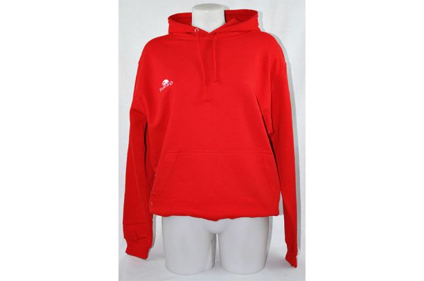 Pullover With Red Hood
