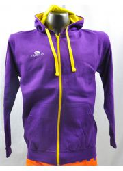 Pullover With Hood Purple and yellow