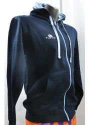 Pullover With Hood Navy and Blue Sky