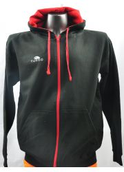 Pullover With Hood Black and Red