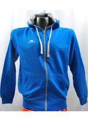 Pullover With Hood Blue Sky and Grey