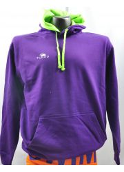 Pullover With Hood Purpule and Yellow