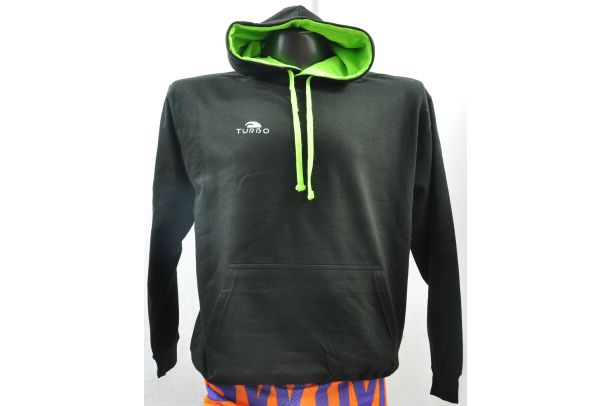 Pullover With Hood Black and Green