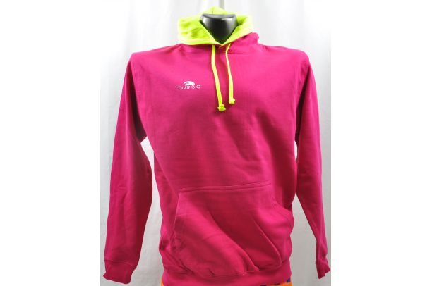 Pullover With Hood Pink and Yellow