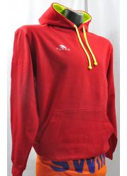 Pullover With Hood Red and Yellow