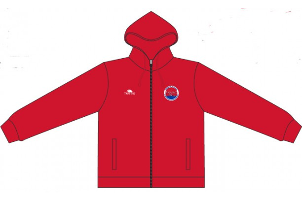 Pullover With Hood Red