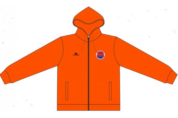 Pullover With Hood Orange