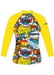 Lycra Paddle Enfant Manches Courtes Wow Happy (3 Semaines)