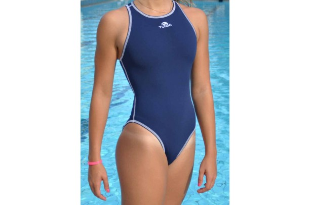 Swimsuit navy blue comfort water polo